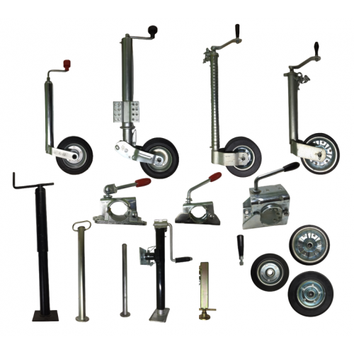 Jockey wheels, propstands and accessories